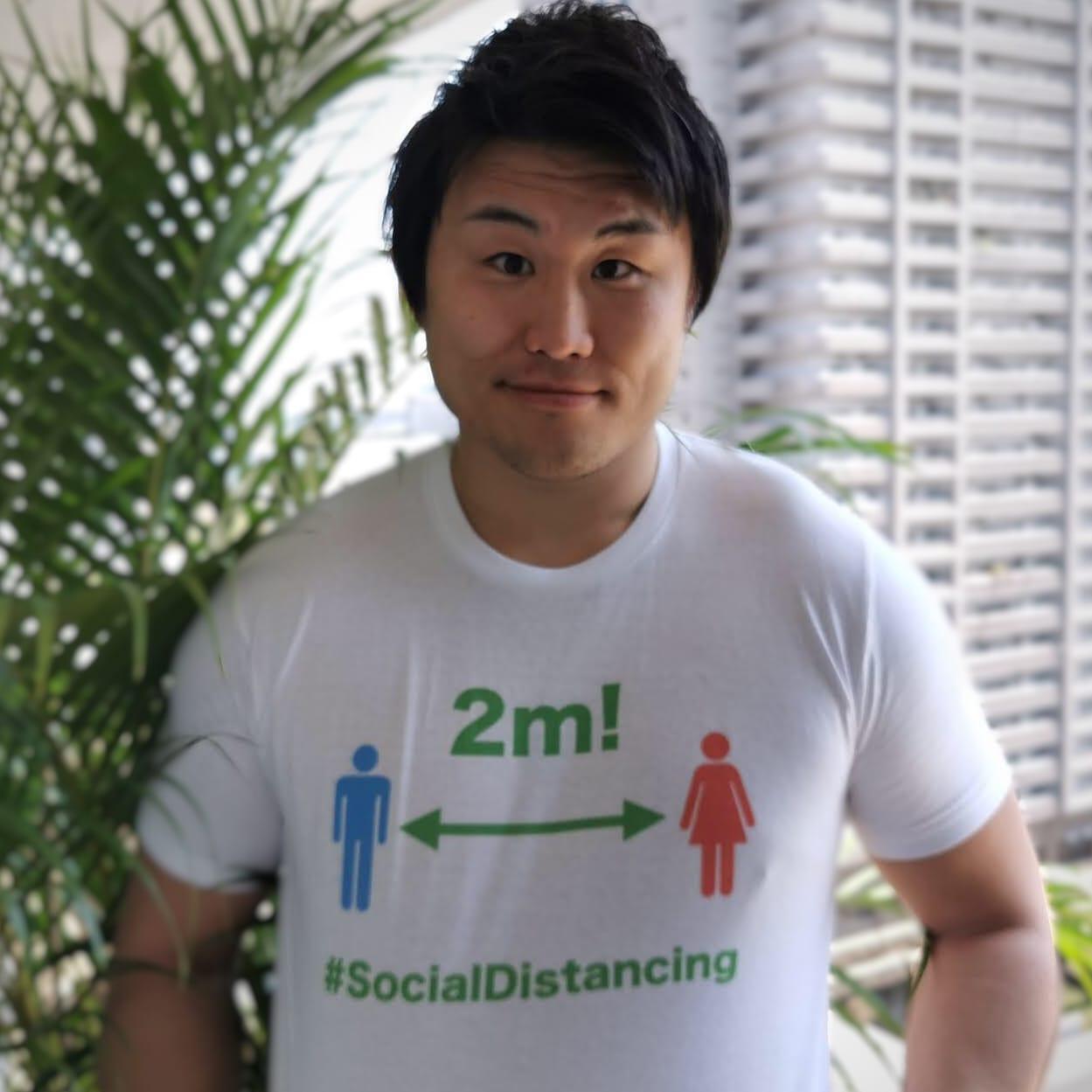 『ソーシャルディスタンシング』Tシャツ募金